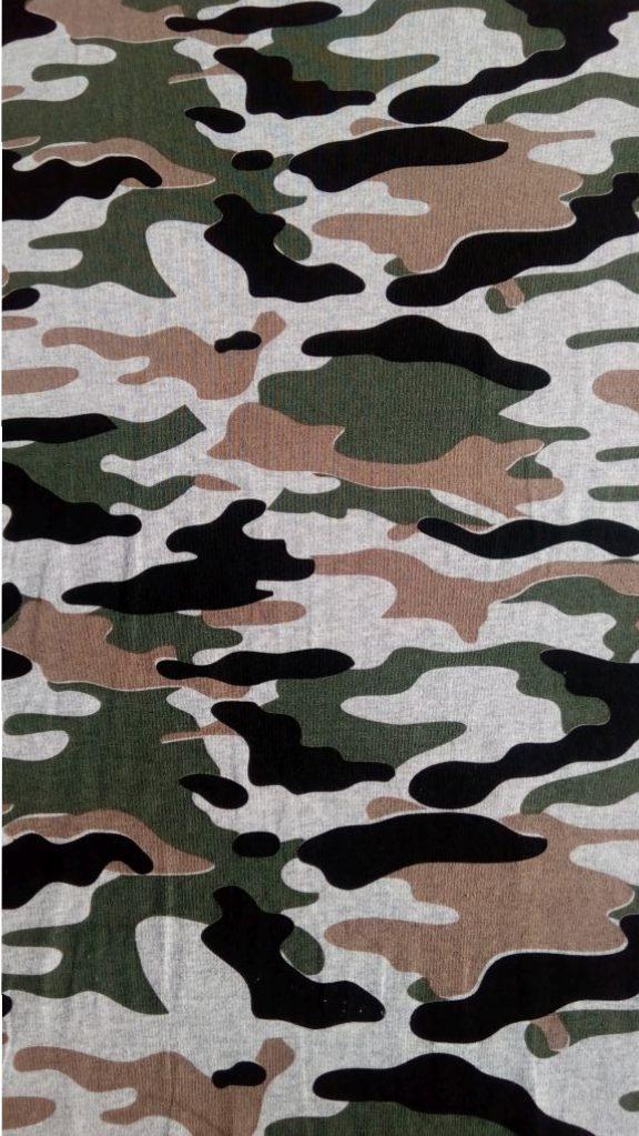 Vzor potlace s army vzorom - zelenohnedy