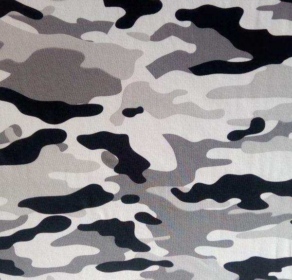 Vzor potlace s army vzorom - sivy