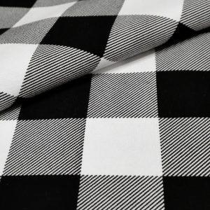 cierno-biela karovana latka