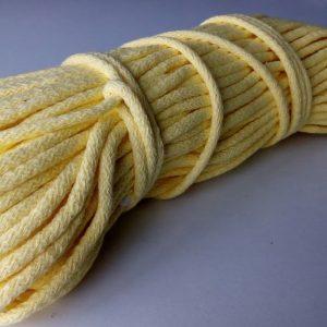 Bavlnena snurka okruhla 6mm zlta