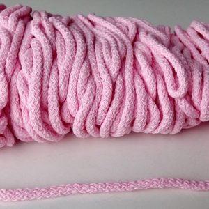 Bavlnena snurka okruhla 5mm pastelovo ruzova